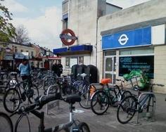 Bikes by Tube Station, London, April 2012