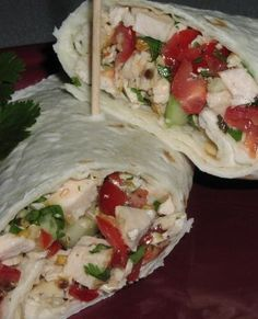Healthy Cilantro Lime Chicken Salad Pita Sandwich