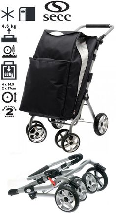 The Secc San Remo Ultimate shopping trolley is built to perform! An impeccable sleek designer look, and large capacity bag storing up to a whopping 60kg, makes this the ideal trolley for all your shopping needs. Optional park brake (additional cost) function can be activated by simply pushing pedal bar downwards with foot to lock back wheels and prevent trolley from running away.   BUY NOW: https://www.shoppingtrolleysdirect.co.uk/proddetail.php?prod=SECC-SANREMO-BLK