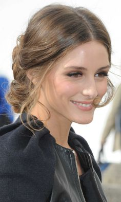 Olivia Palermo Keeps Her Updo Low-Key By Letting Strands Fall Loose ...
