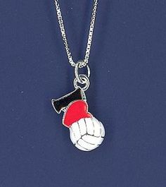 Volleyball I Heart VB necklace, another unique piece of volleyball jewelry by GymRats Volleyball necklaces, bracelets, and earrings. Volleyball Jerseys, Volleyball Outfits, Volleyball Ideas, Volleyball Necklace, Clothing Co, Pendant Necklace, Heart, Sports, Volleyball Clothes