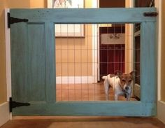 custom wood and wire pet gate - Atticmag v Kathy Barker Pinterest by Allison Shops