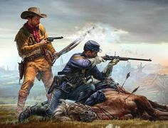 Final Stand - Indian Wars series by Master Box Limited American Indian Wars, American Civil War, Native American Indians, American History, West Art, American Frontier, Cowboys And Indians, Cowboy Art, Historical Art