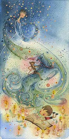Watercolor Illustration Art Print $25 #alinachau