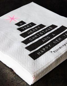 Servilletas de papel para la copa de bienvenida o aperitivo.