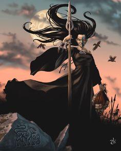 Morrigan: Deusa celta dos mortos, da guerra, da justiça, da vingança