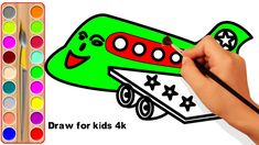 How To Draw Plane For Kids