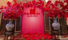 Trang trí tiệc cưới theo tông màu đỏ rực rỡ và ấn tượng