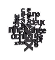 7. Lingua Wall Clock, $49.99