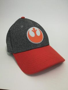 9c149d3fede Star Wars Hat Cap Rebel Alliance Symbol Lucas Arts. Grey and Orange.   fashion