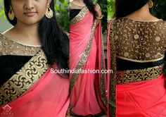 peach_and_black_designer_saree.jpg (1600×1131)