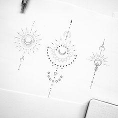Tattoo artist fedor nozdrin on available designs geometrictattoo geometrictattoodesign suntattoo moontattoo unalometattoo moonphases balitattoo beauty lies in simplicity minimalist animal tattoos created at sol tattoo parlor Pretty Tattoos, Cute Tattoos, Body Art Tattoos, Small Tattoos, Tattoo Ink, Forearm Tattoos, Tatoos, Tattoo Shop, Unalome Tattoo