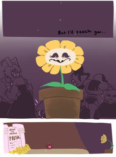 "natouu-love: "" with love thank you Toby Fox for making such a beautiful game. you truly are a genius i kinda wanna do a fan comic of this game though~ this one was a lot of fun "" Flowey Undertale, Undertale Comic Funny, Undertale Memes, Undertale Fanart, Frisk, Mlp Comics, Toby Fox, Underswap, Bad Timing"