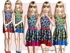 Floral spring dress by EsyraM - Sims 3 Downloads CC Caboodle
