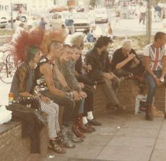 Punks and Skins 1980s