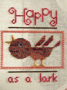 『Happy as a lark』