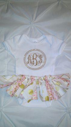 Custom. Newborn. Coming home outfit. Tutu. Glitter. Vinyl. Monogram. Braylee's Sew Sweet Boutique