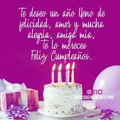 Ya lo use Spanish Birthday Wishes, Happy Birthday Wishes Cards, Happy Birthday Celebration, Birthday Greetings, Pizza Day, Elmo Birthday, Sweet Messages, Happy B Day, Birthday Quotes