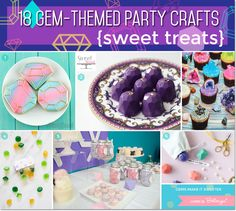 Gem-inspired cookies, cake gems, chocolate gems, and geode cupcakes - Trendy treats for a Graduation Party, too!