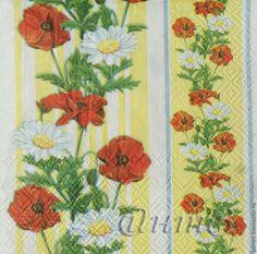 Купить салфетки декупаж узор цветы маки ажур орнамент - салфетка декупаж, купить недорого
