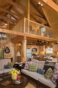 Photos of a modified Oakbrook plan 8x8 D Log home designed & milled by Honest Abe Log Homes; family owned/operated since 1979; nationwide sales & delivery.