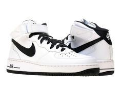 Nike Air Force 1 Mid Casual Shoes Size 9 (315123-107) #Nike #AthleticSneakers