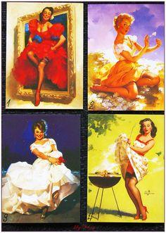 """Carte postale style rétro vintage women pin up """"modéle 3"""" x1 : Papeterie, carterie par lilycherry"""