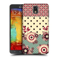 Head Case Designs Pink Cream Floral Dots Design for Samsung Galaxy Note 3 N9000 N9002 N9005