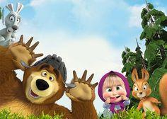Veja o que temos para Masha and The Bear Invitations Bear Birthday, 2nd Birthday Parties, 4th Birthday, Masha Et Mishka, Marsha And The Bear, Bear Theme, Bear Party, Bear Toy, Cartoon Kids