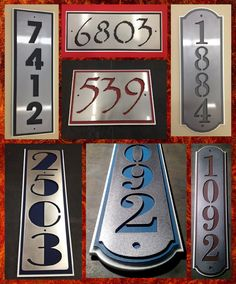 Items similar to Custom Stainless Steel House Numbers Address Plaque. on Etsy Metal Projects, Welding Projects, Home Projects, House Number Plaque, House Numbers, Balustrade Balcon, Plasma Cutter Art, Address Plaque, Address Signs