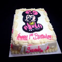 Minnie Mouse first birthday cake