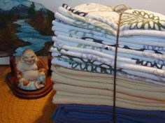 Repurposed Cotton Flannel Sheets Cleaning by NopalitoVintageMore, $14.00