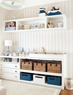 Quarto Bebe Quarto bebe storage room organization - Storage And Organization Baby Bedroom, Baby Boy Rooms, Baby Room Decor, Nursery Room, Girls Bedroom, Kids Rooms, Bedroom Decor, Nursery Furniture, Kids Furniture