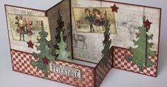 scrapbookheaven: guest design angel Silvia: It's time …. Christmas Cards 2018, Christmas Card Crafts, Homemade Christmas Cards, Xmas Cards, Handmade Christmas, Holiday Cards, Z Cards, Step Cards, Pop Up Cards