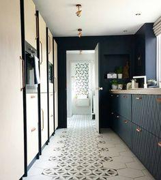 blue #kitchen by cathy dean interior design
