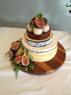 Gorgeous cheese wedding cake!