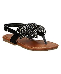 Look what I found on #zulily! QQ Girl Black Studded Julia Sandal by QQ Girl #zulilyfinds