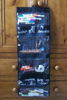 Use an travel bag as an art supply organizer--my friend Michele is a genius!