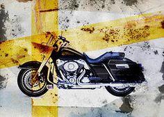 Harley Davidson Framed Prints - Harley Davidson Framed Print by David Ridley