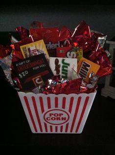 Movie grab bag gift. Cute work give away idea.