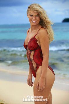Caroline Wozniacki Swimsuit Body Paint Photos, Sports Illustrated Swimsuit 2016