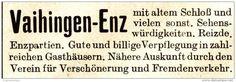 Original-Werbung / Anzeige 1913 - VAIHINGEN-ENZ - ca. 60 x 20 mm