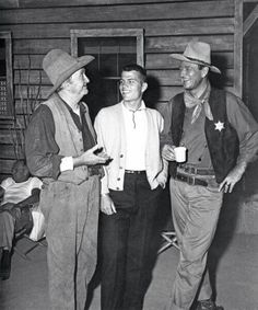 On the set of Rio Bravo