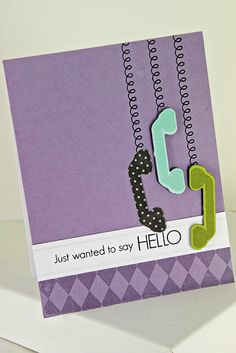 card by Erin Lincoln for PTI May 2012 Release - Stamps: Heart-2-Heart #4, Tremendous Treats: Birthday, A Little Argyle  Dies: Heart-2-Heart #4, Photo Finisher Strips  Ink: True Black, Winter Wisteria, Aqua Mist, Simple Chartreuse  Cardstock: Winter Wisteria, Aqua Mist, Simple Chartreuse, Stamper's Select White  Smokey Shadow Bitty Dot Patterned Paper