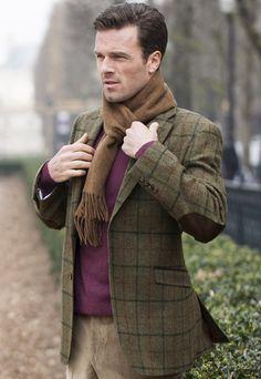 Austen Tweed Jacket - Olive