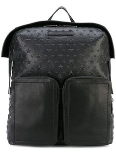 JIMMY CHOO Lennox Backpack. #jimmychoo #bags #leather #backpacks #cotton #