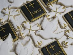 First Communion Sugar Cookies Baptism Confirmation Bible