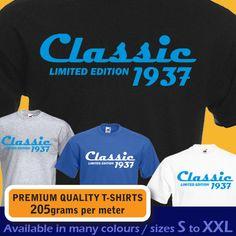 CLASSIC 1937 limited edition 80th Birthday Tshirt 80th