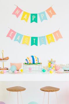A Last-Minute Playful Easter Dessert Table Idea