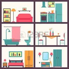 Illustration of House in cut. Rooms with furniture. vector art, clipart and stock vectors. Doll House Plans, Castle Drawing, Image Clipart, House Illustration, House Inside, Image House, Dollhouse Furniture, House Rooms, Room Interior
